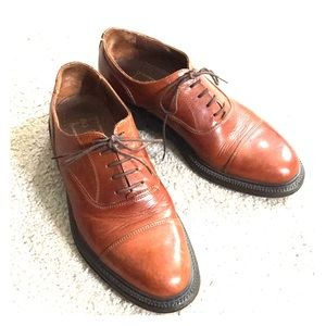 Antica cuoieria italian brwn leather shoes sz 9.5